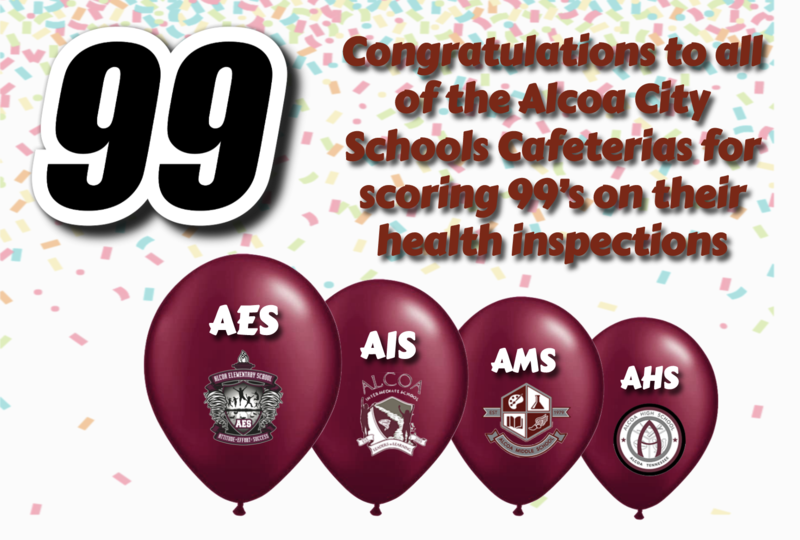 Alcoa Schools Receive 99's on Health Inspections