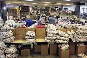 Santa Claus Girls Stock Room