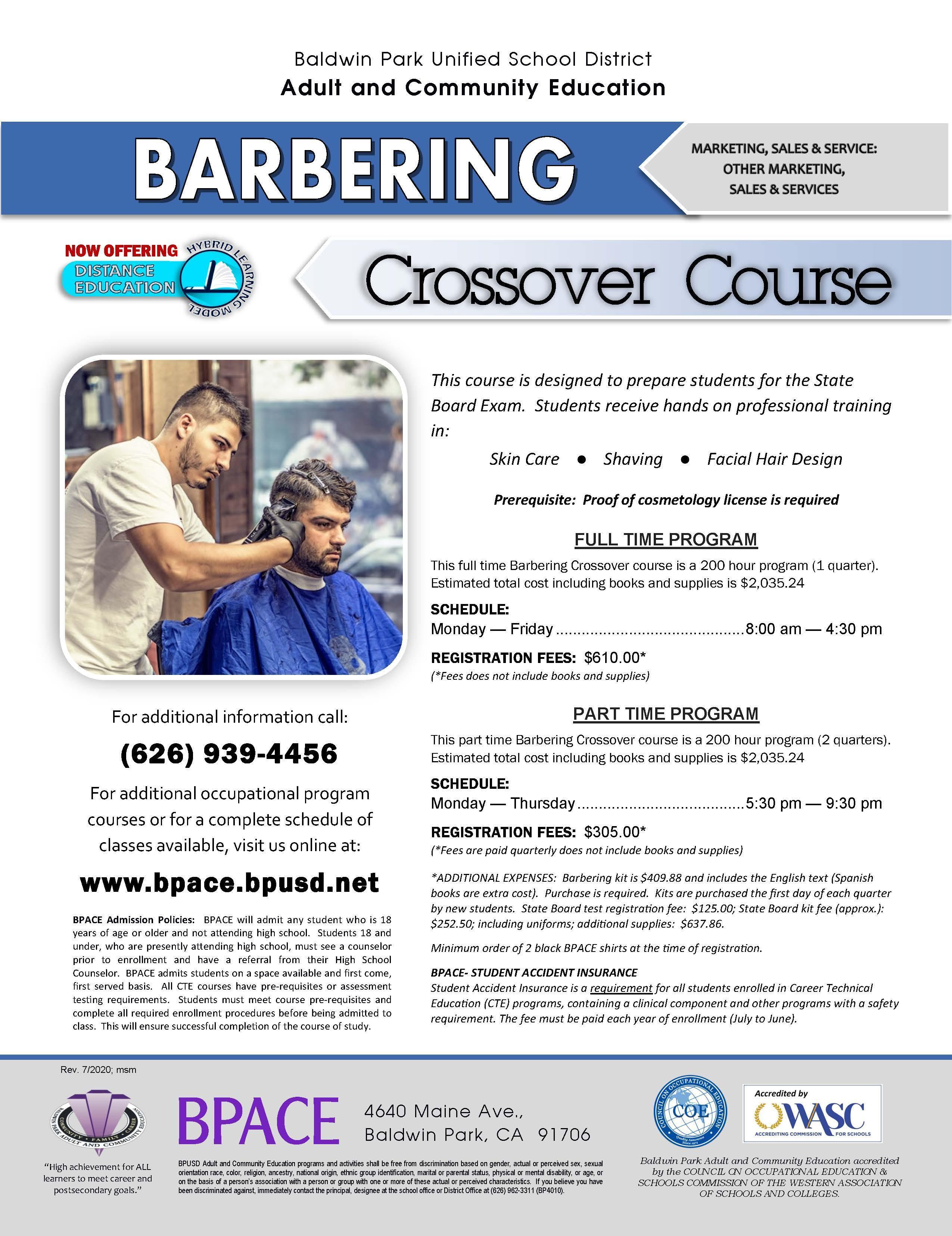 Barbering Crossover Flyer