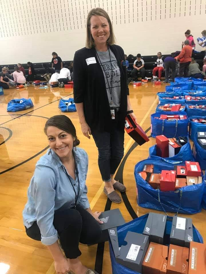 Shoes for the Shoeless donation event