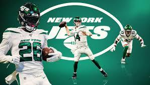 NY Jets Football Players and Team Logo