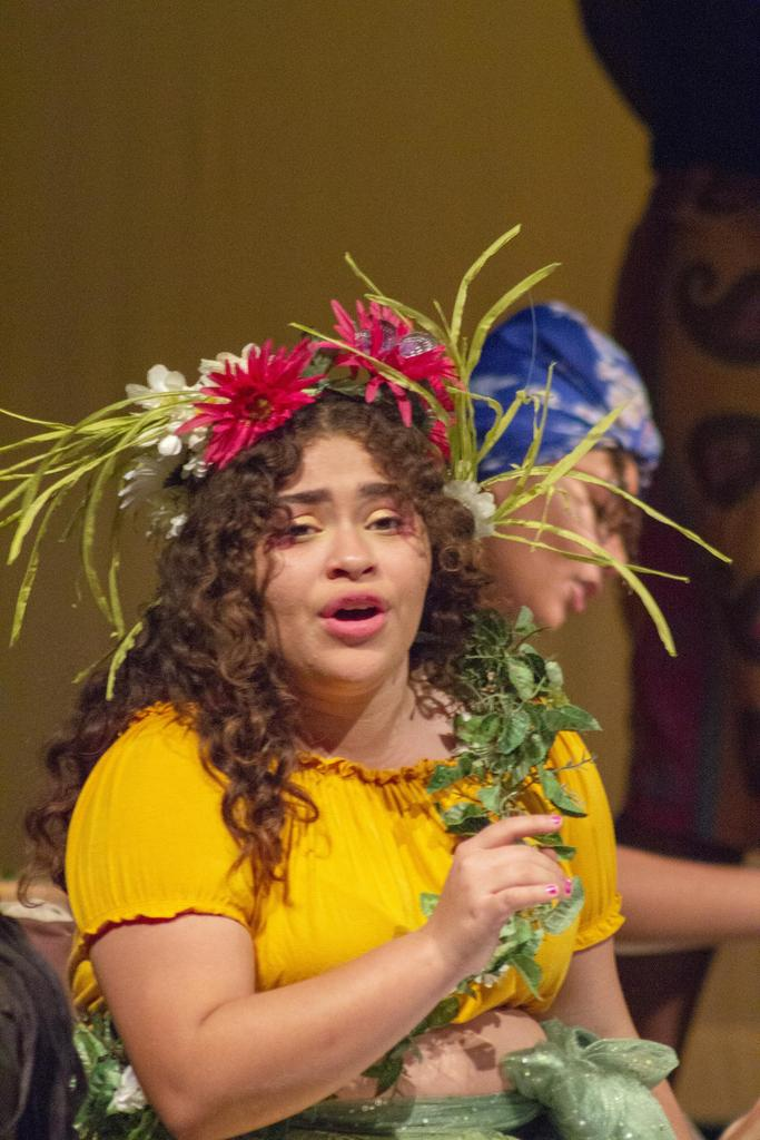 Daicia Eugene, the Mother of Earth, sings a song