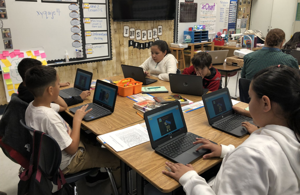 Ms. Munoz's 5th Graders loved participating in HOUR OF CODE