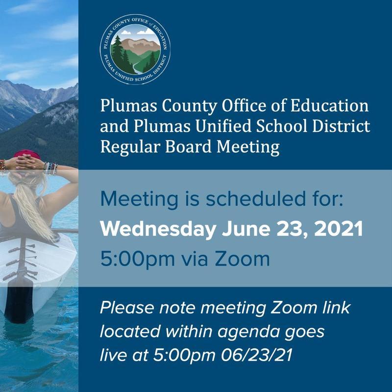 PUSD board meeting agenda 6/23/21