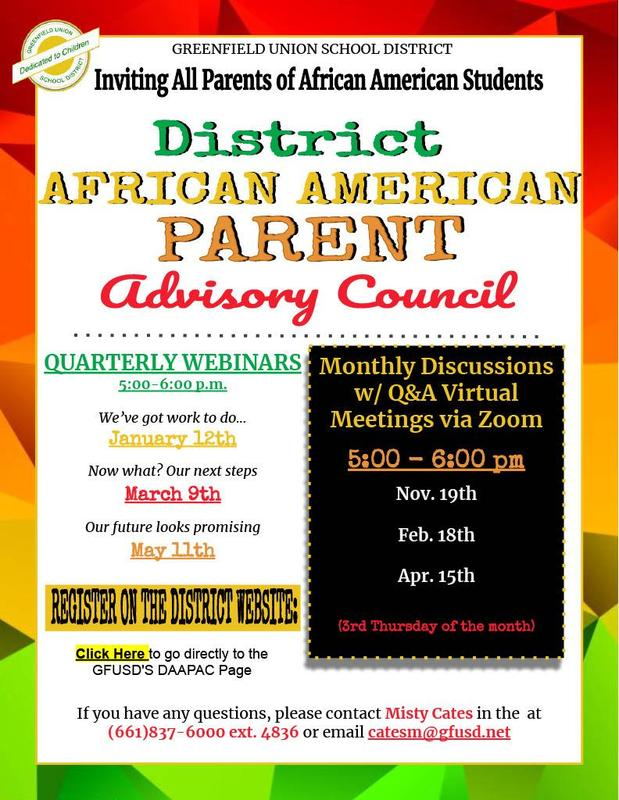District African American Parent Advisory Council