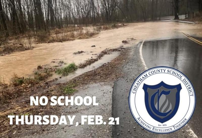 The Cheatham County School District will be closed on Thursday, Feb. 21 due to flooding.