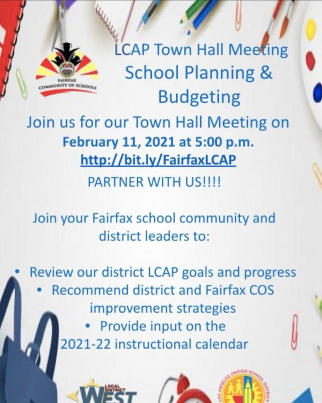 Fairfax Community of Schools Town Hall Meeting -February 11, 2021 at 5:00 p.m. Featured Photo