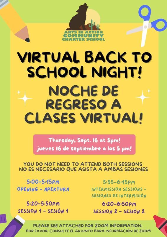 Elementary School Back to School Night/ Noche de regreso a clases de la escuela primaria Featured Photo