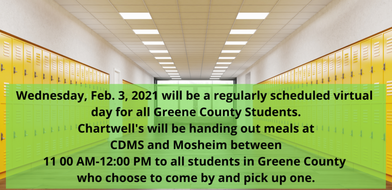 Wednesday, Feb. 3, 2021 will be a virtual day for all Greene County Students
