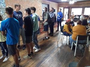BSU & KISS-TV students at HomeTown Coffee