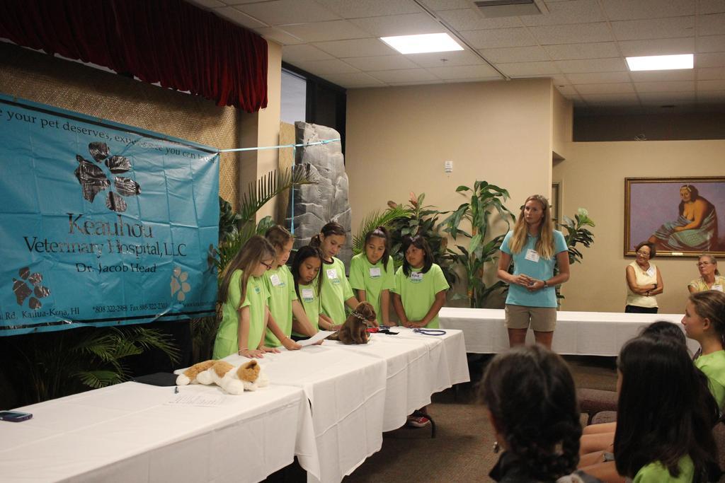 girls presenting
