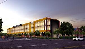 Rendering of the future Cristo Rey Miami High School building.