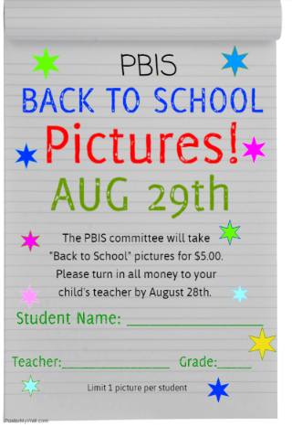 Back to school pictures August 29 for $5