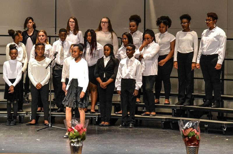 Choir performing in Winter Concert