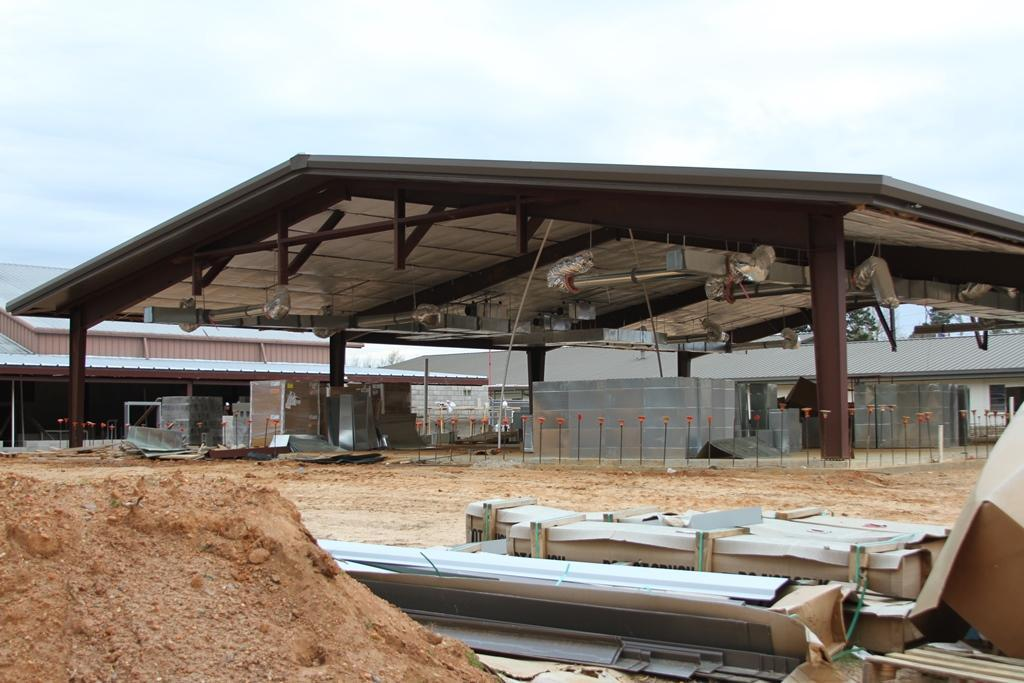 Photo of LJH Science wing addition under construction