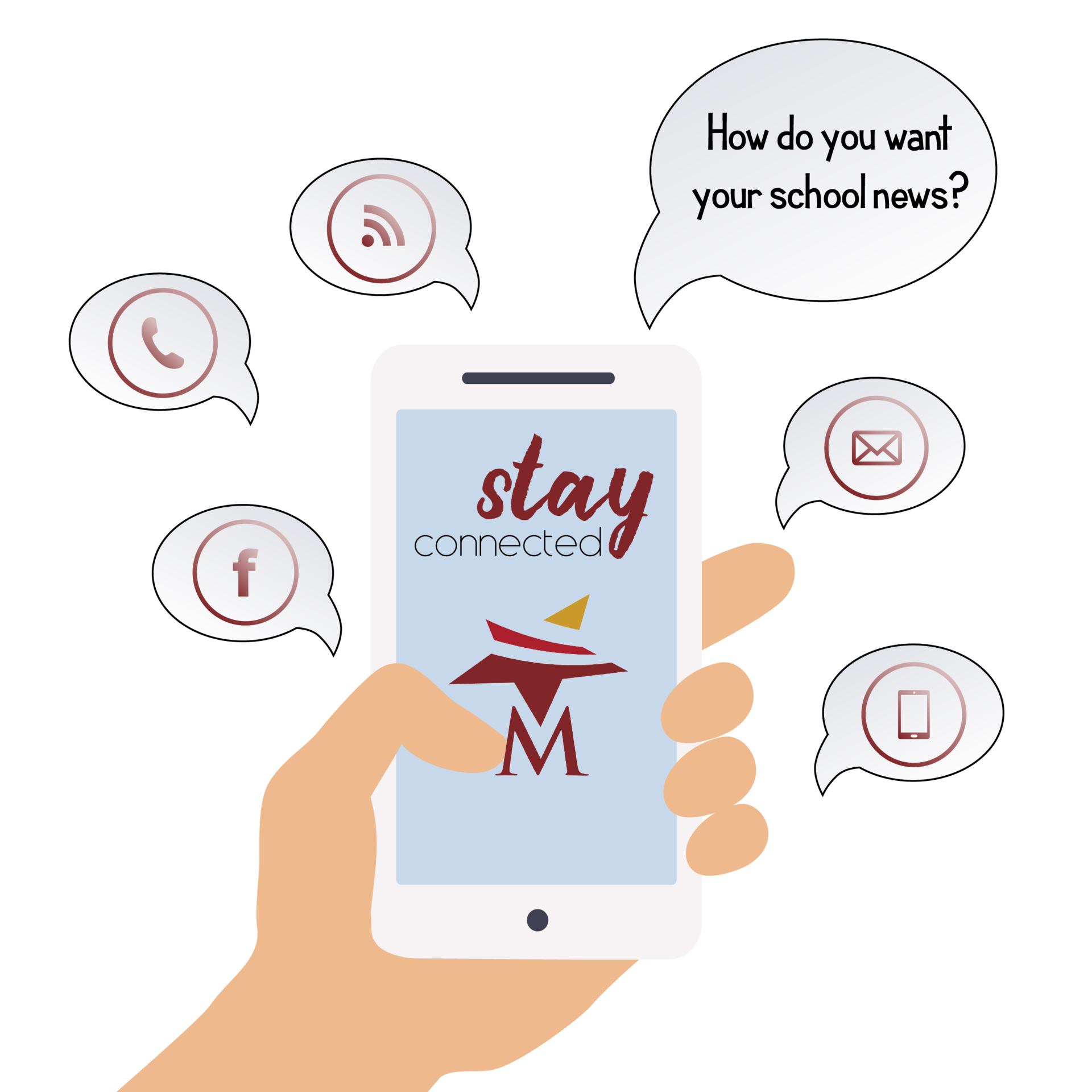 Stay Connected with Magnolia ISD graphic