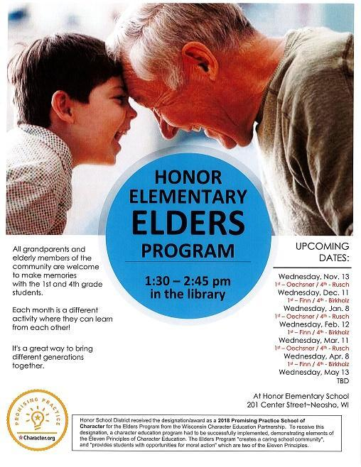 Join us at our ELDERS program this week Featured Photo