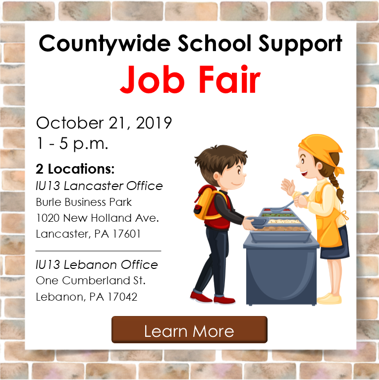 Countywide School Support Job Fair graphic for social media