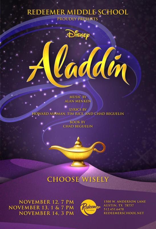 Redeemer Middle School students perform Aladdin