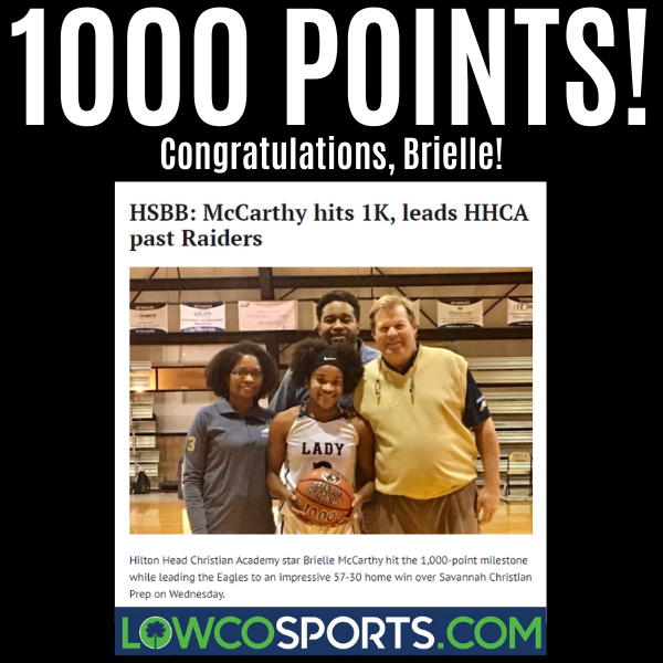 Brielle McCarthy 1000 points scored