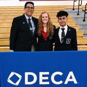 Tate Halford and DECA friends