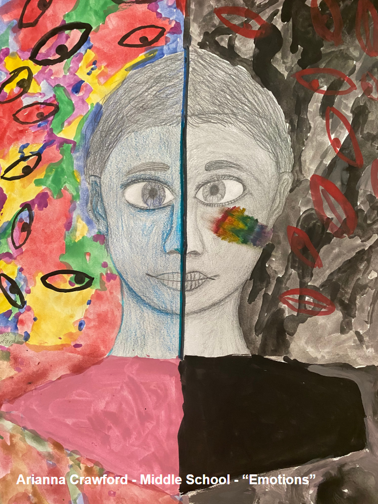 Middle School Student - Arianna Crawford - Self Portrait