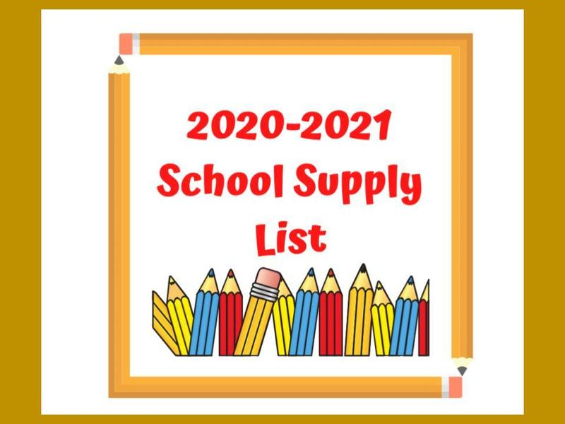 General Class Supply List for Distance Learning... Featured Photo