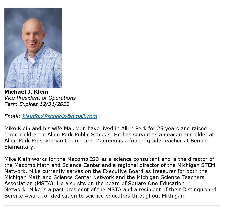 Board of Education Members - Klein