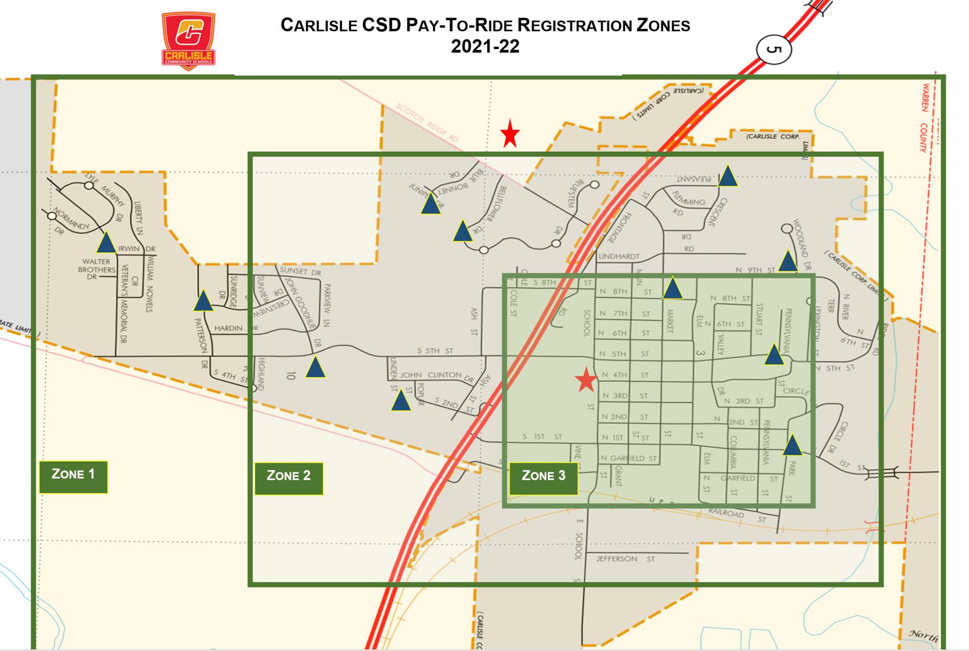 2021-22 PTR Zone Map