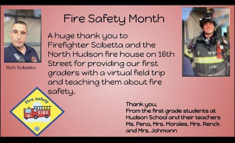 Fire Safety Month thank you slide