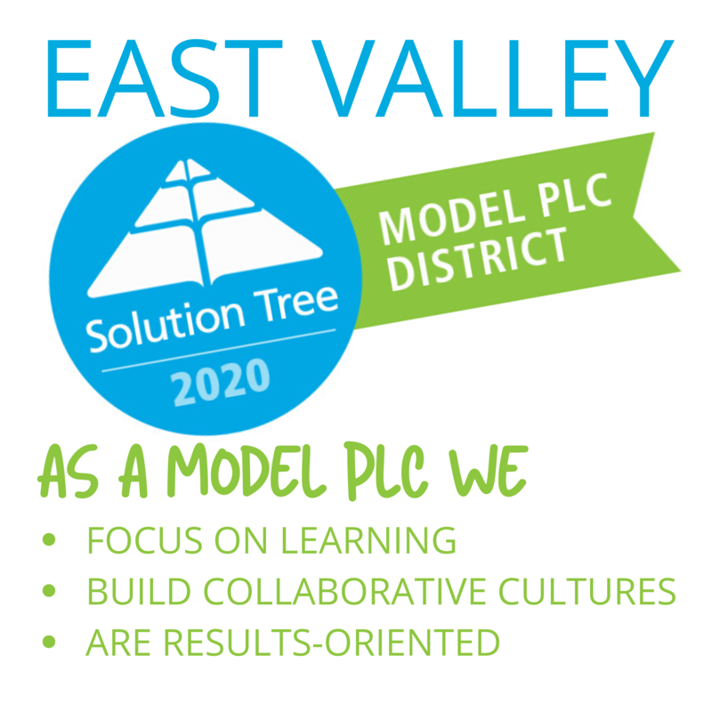 Solution Tree Model PLC logo and the wording: As A Model PLC We: 1. Focus on learning. 2. Build Collaborative Cultures. 3. Are Results-Oriented