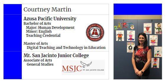 Courtney College Info Card