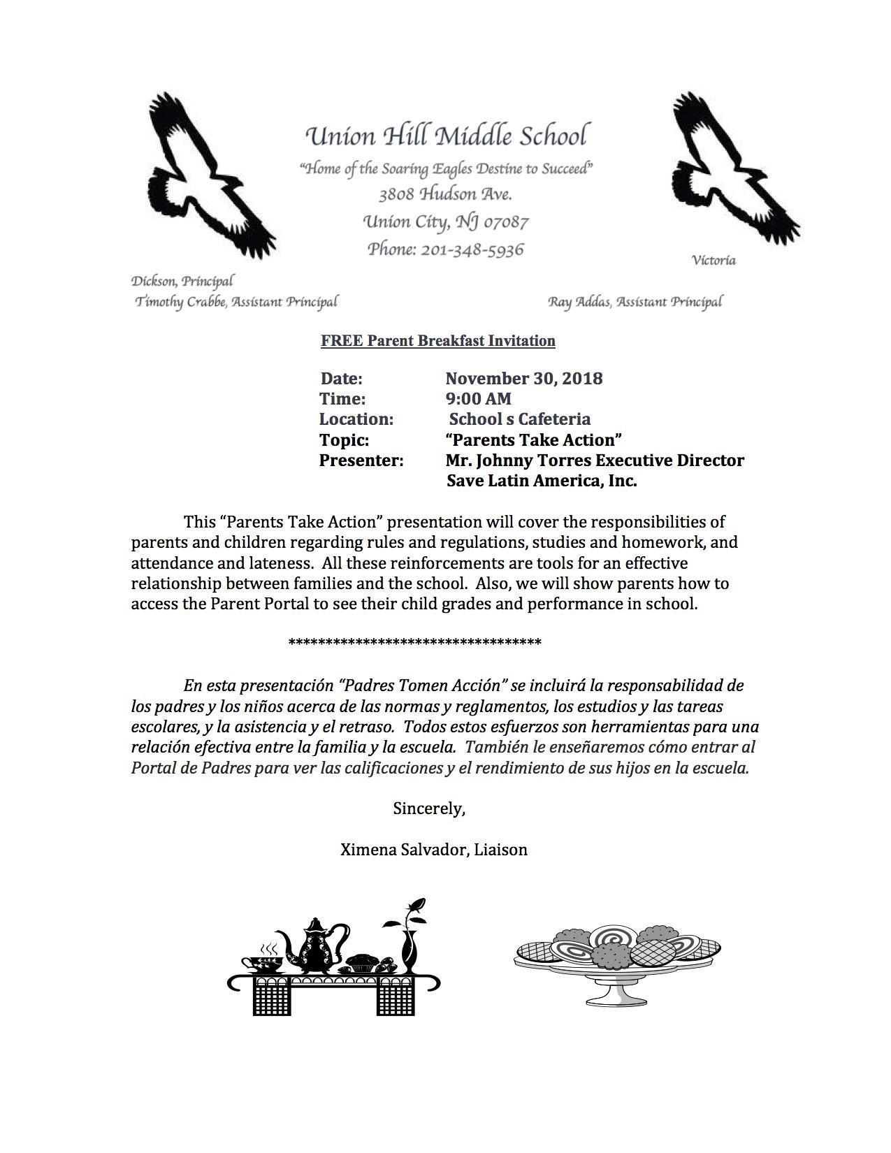 November's Parent Workshop Flyer