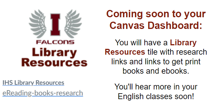 Coming soon to CANVAS!  Library Resources tile! Thumbnail Image