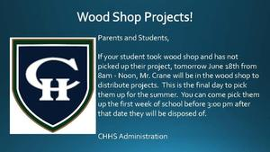 Wood Shop Projects