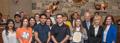 Grape Creek High Students being recognized by the San Angelo City Council for Grape Creek High School students and other area students being recognized by the San Angelo City Council for