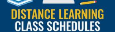 Distant Learning Class Schedule Featured Photo
