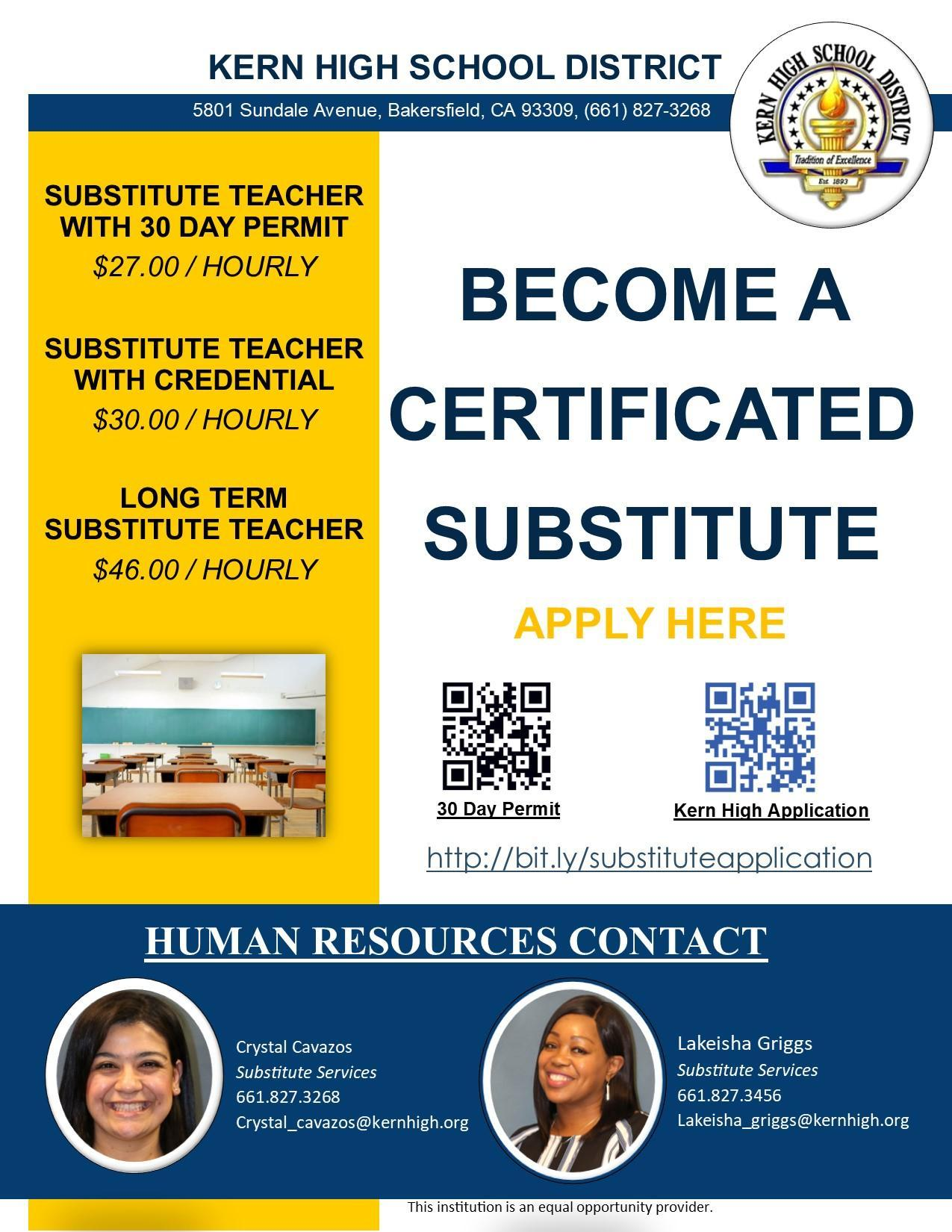 Certificated Substitutes (Teacher)