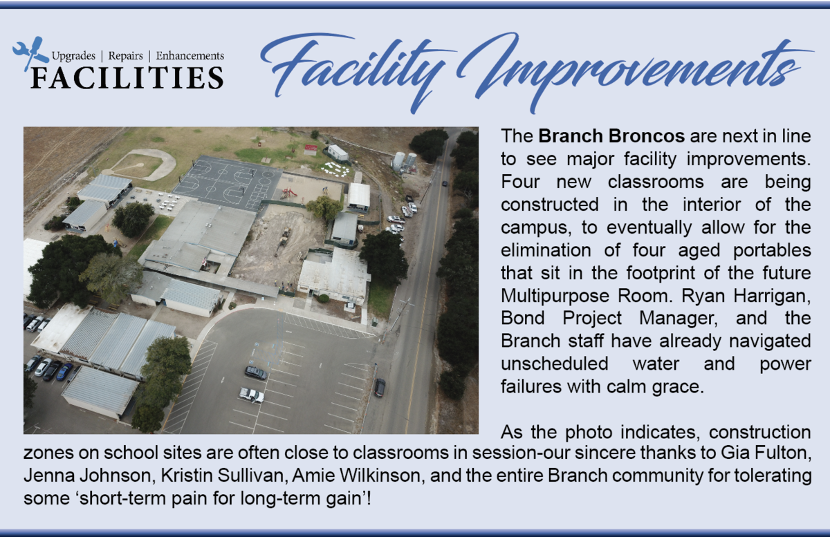 Branch Elementary getting a facility upgrade