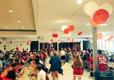 Red and White Day at the High School
