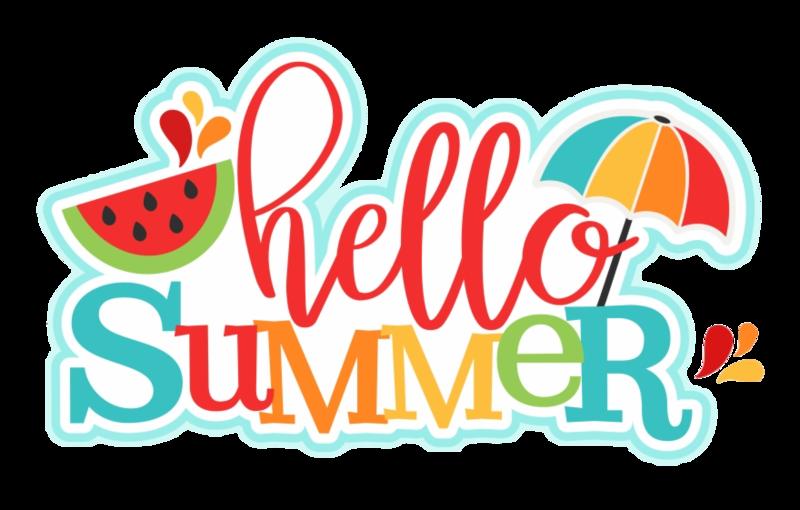 hello summer gif with melon and umbrella