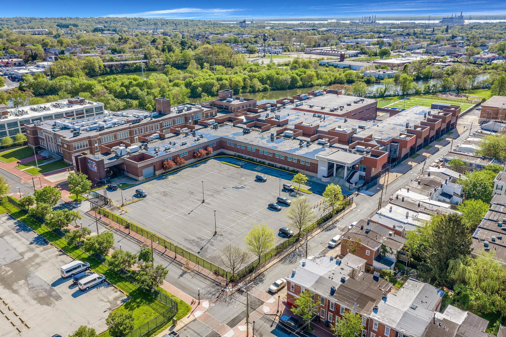 Drone View of Howard School