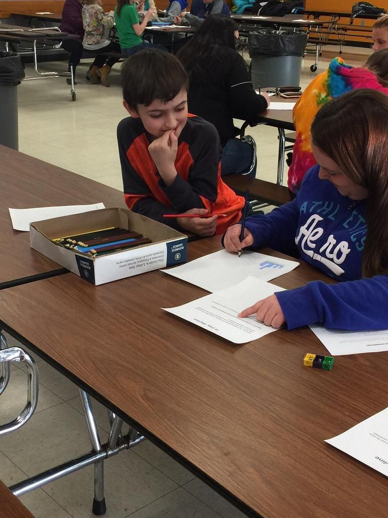 Wagar Student/Parent doing math activity