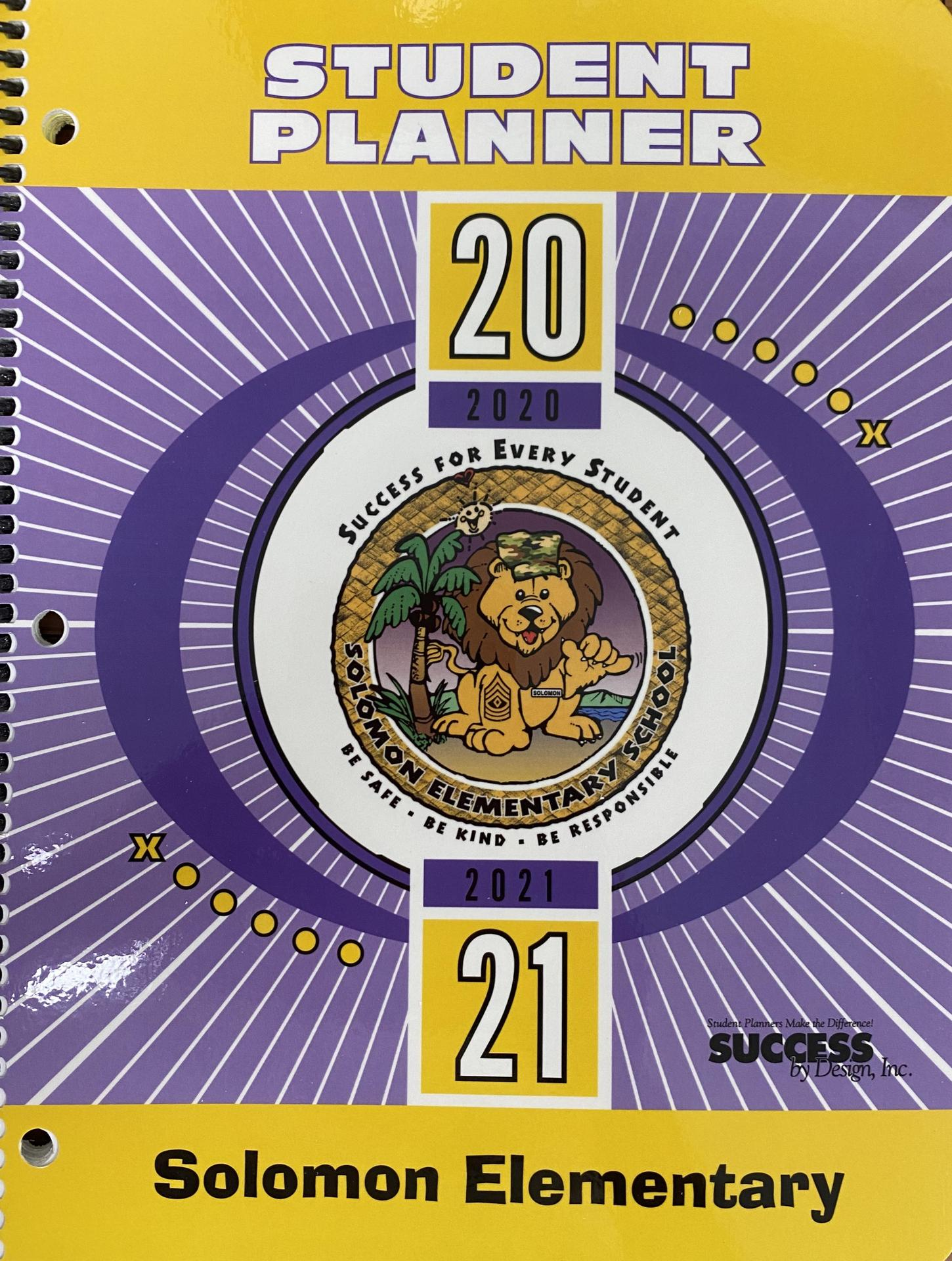 picture of 20-21 planner cover
