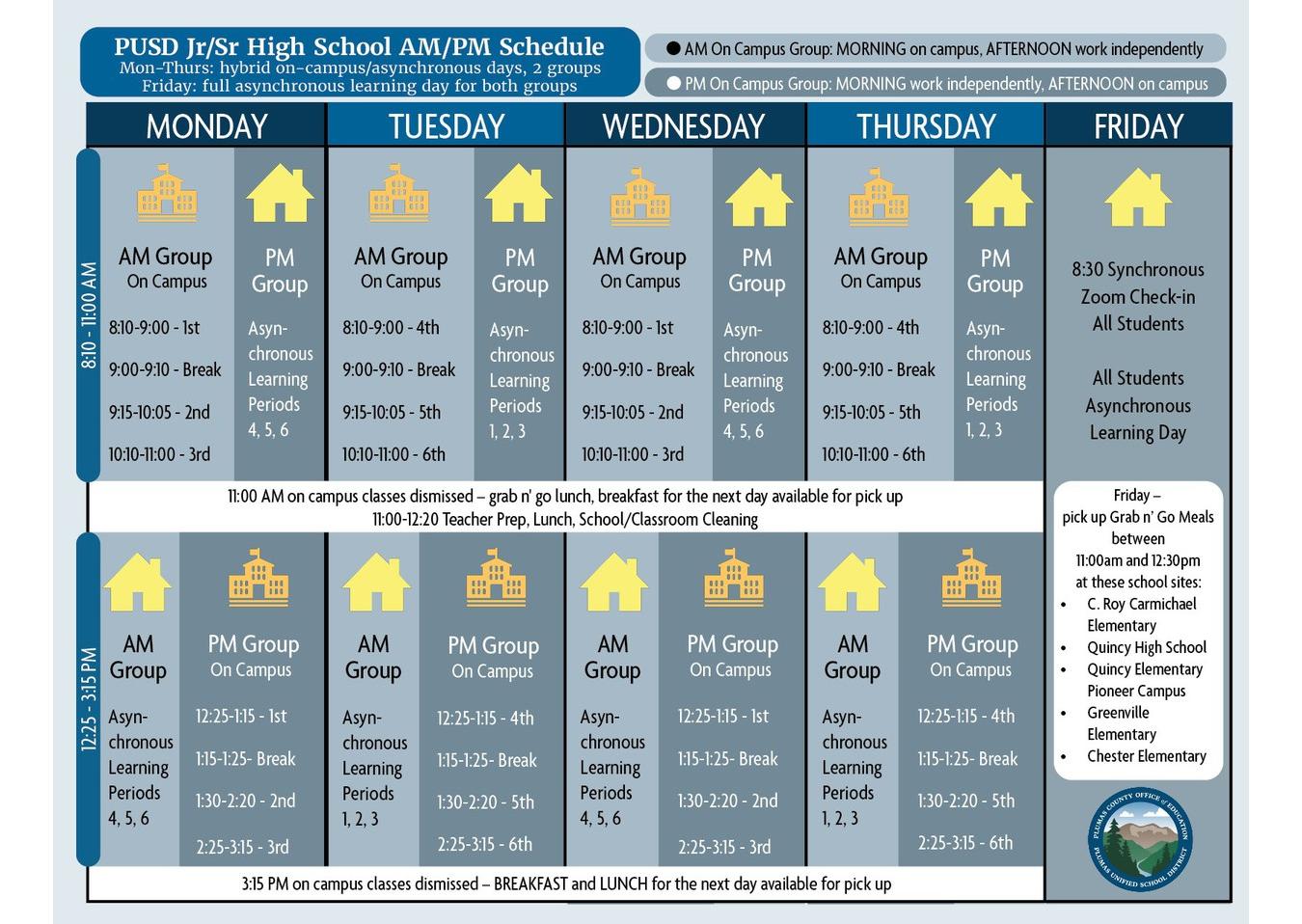 A.M. / P.M. Schedule