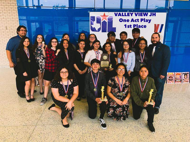 Valley View JH/ECC Theatre Arts Students Win 1st Place At 2019 UIL One Act Play Competition. Thumbnail Image