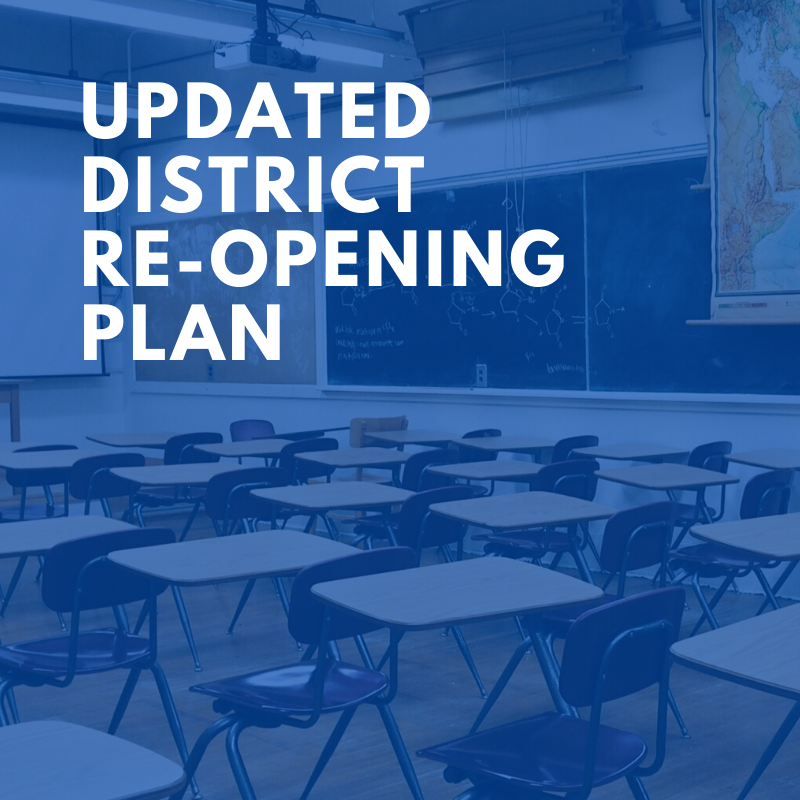 Updated District Re-opening Plan Featured Photo