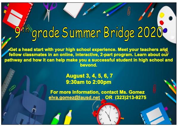 9th Grade Summer Bridge 2020 Featured Photo