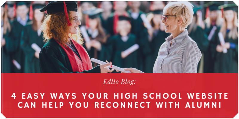 high school websites and alumni