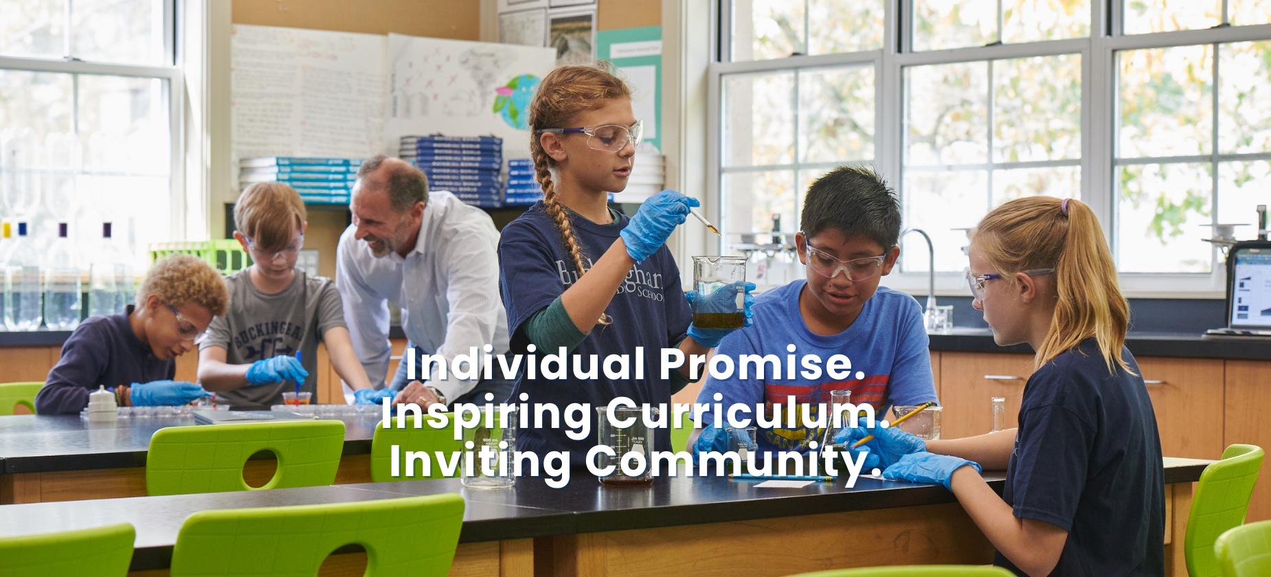 Individual Promise. Inspiring Curriculum. Inviting Community.